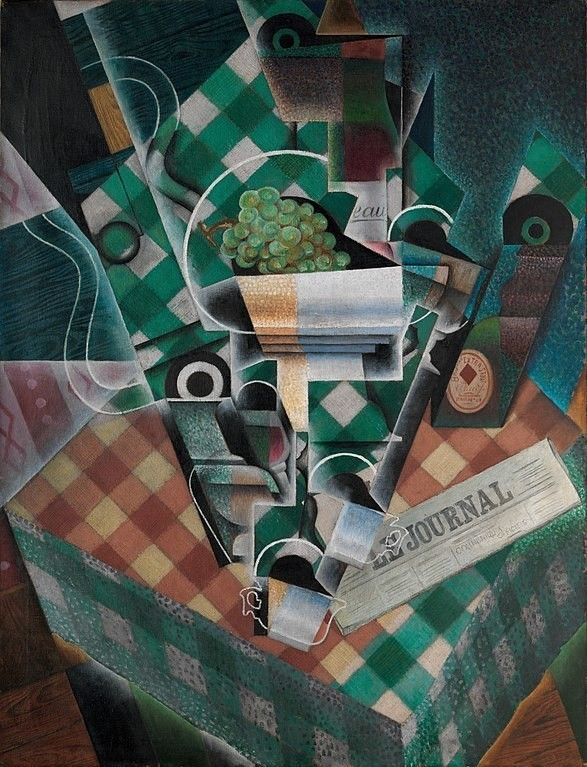 Still Life with Checked Tablecloth