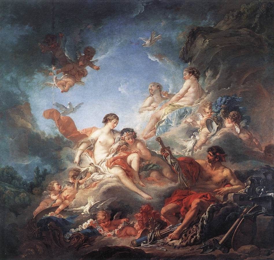 Vulcan Presenting Venus with Arms for Aeneas (Boucher)