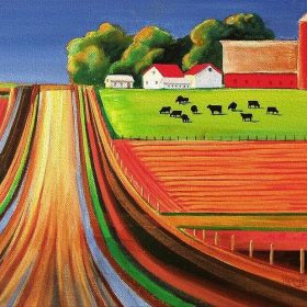 Farm Painting by Toni Grote