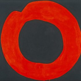 Red Circle on Black